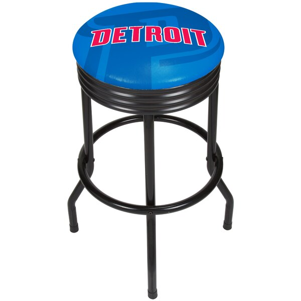 NBA Fade Ribbed 28.5 Swivel Bar Stool by Trademark