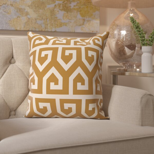 Benedito Geometric Print Outdoor Throw Pillow by Willa Arlo Interiors