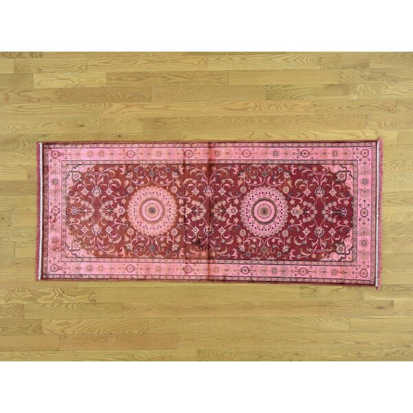 One-of-a-Kind Benally Overdyed Handwoven Red Silk Area Rug by Isabelline