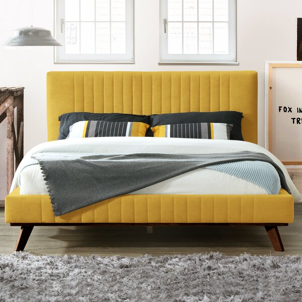 Dev Queen Upholstered Platform Bed by Foundstone