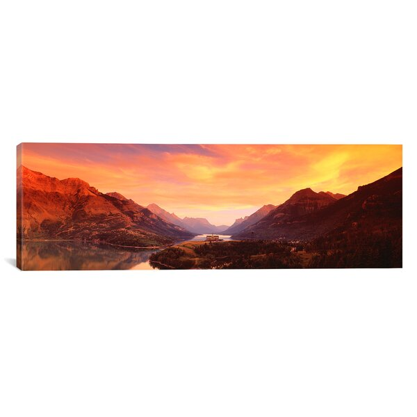Panoramic Waterton Lakes National Park, Alberta, Canada Photographic Print on Canvas by iCanvas