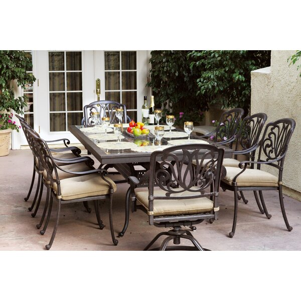 Skyloft Traditional 9 Piece Dining Set with Cushions