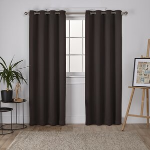Awesome Tamara Solid Blackout Thermal Grommet Curtain Panels (Set Of 2)
