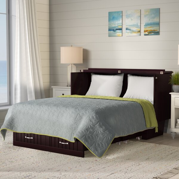 Graham Queen Storage Murphy Bed with Mattress by Beachcrest Home