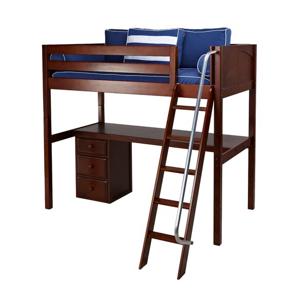 Bordelon Loft Bed with Storage by Harriet Bee