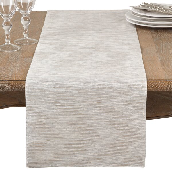 Benita Woven Metallic Table Runner by Greyleigh
