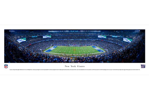 NFL New York Giants - 50 Yard Line by James Blakeway Photographic Print by Blakeway Worldwide Panoramas, Inc