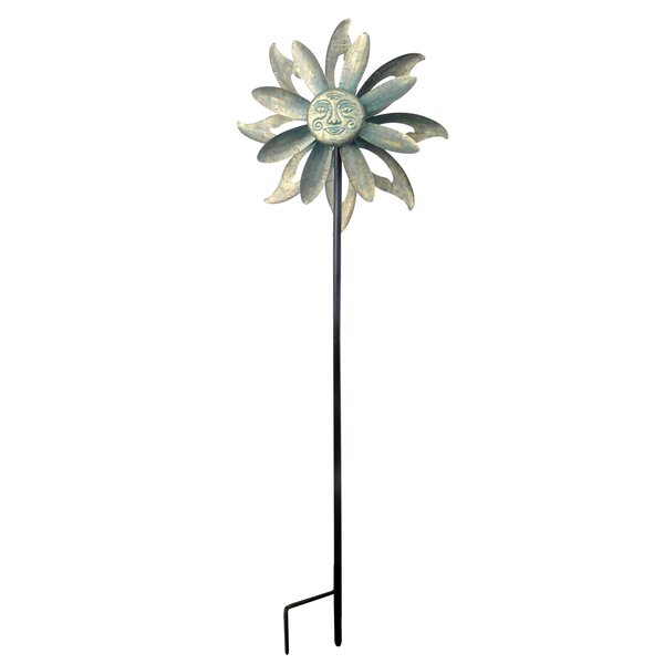 Outdoor Floral Kinetic Windmill by Peaktop
