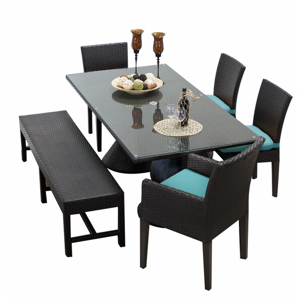 Napa 6 Piece Dining Set with Cushions by TK Classics