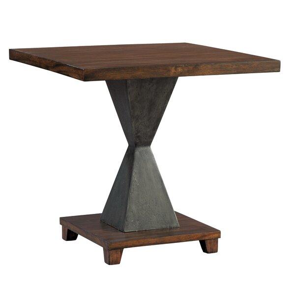 Metal Pedestal Lamp Table By Hekman