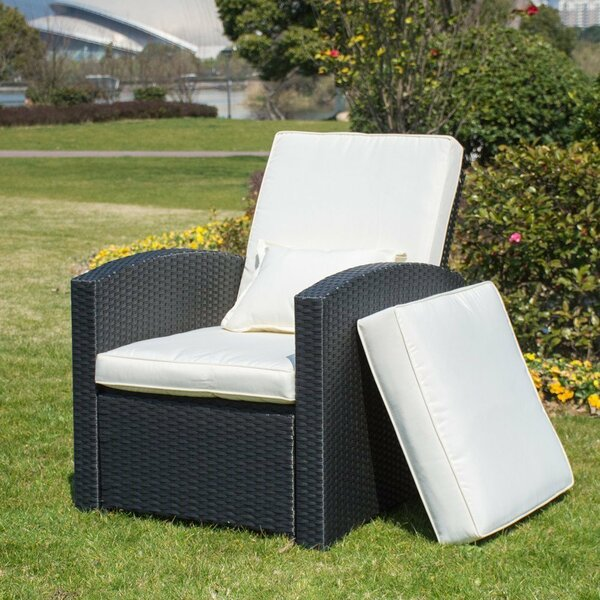Krier Push Back Patio Chair with Cushion by Bayou Breeze
