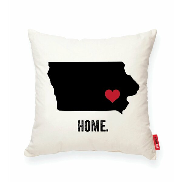 Pettry Iowa Cotton Throw Pillow by Wrought Studio
