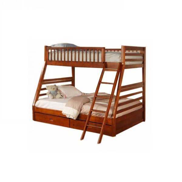 Abe Twin Over Full Bunk Bed with Drawers by Harriet Bee