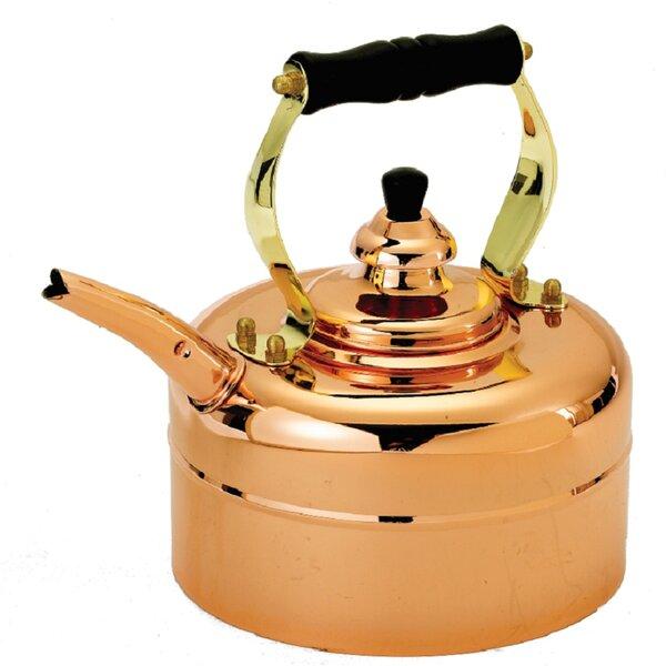 Copper 3 Qt. Tri Ply Windsor Whistling Tea Kettle by Old Dutch International
