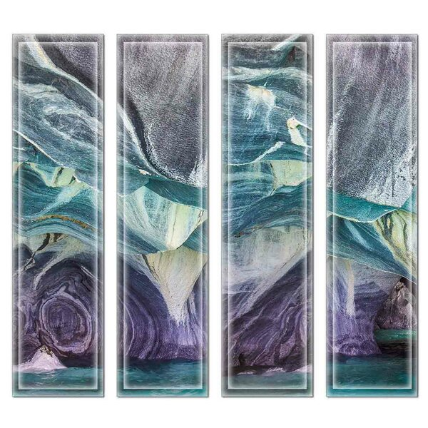 Crystal 3 x 12 Beveled Glass Subway Tile in Blue/Purple by Upscale Designs by EMA