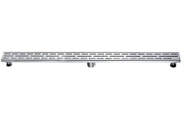 Linear Grid Shower Drain with Overflow by Dawn USA