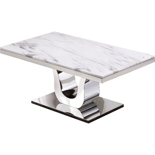 Malvern Marble Coffee Table Everly Quinn