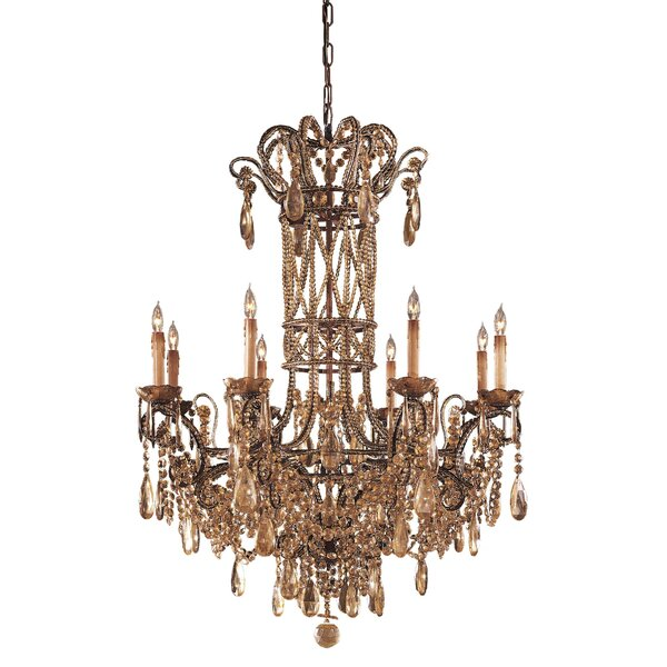 8 - Light Candle Style Empire Chandelier By Metropolitan By Minka