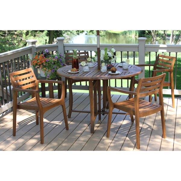 5-Piece Erin Eucalyptus Dining Set by Outdoor Interiors