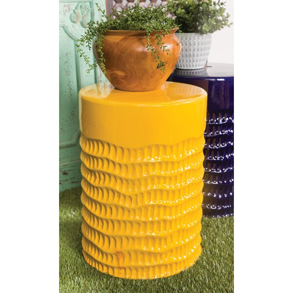 Hillenbrand Eclectic Ceramic Garden Stool by Wrought Studio