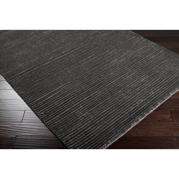 Ernestine Hand-Woven Gray Area Rug by Orren Ellis