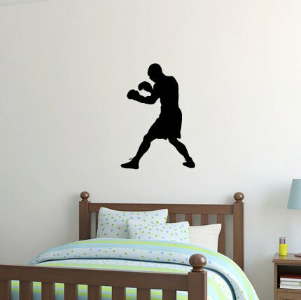 Wilfred Boxer Boxing Silhouette Wall Decal by Zoomie Kids