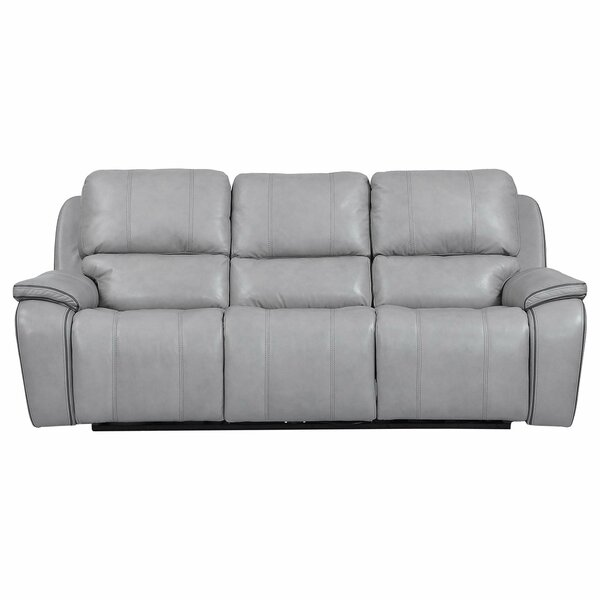 Aycock Leather Reclining Sofa by Red Barrel Studio Red Barrel Studio