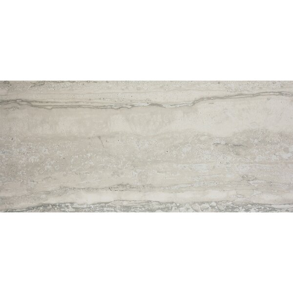 Nova 12 x 24 Porcelain Field Tile in Silver by Madrid Ceramics