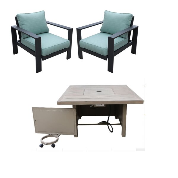 Clary 5 Piece Multiple Chairs Seating Group with Cushions by Brayden Studio
