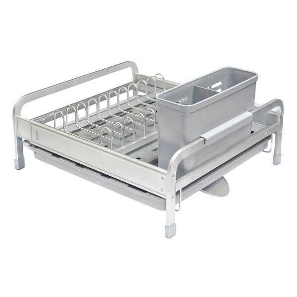 Deluxe Expandable Aluminum Dish Rack by Real Home