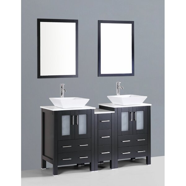 Netto 60 Double Bathroom Vanity Set with Mirror by Ebern Designs