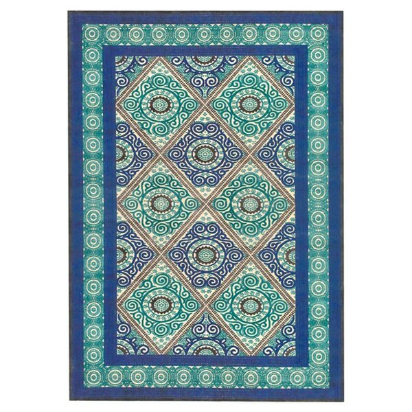 Jadida Blue/Green Area Rug by Bungalow Rose