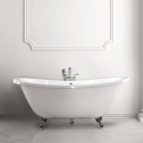 Andrea 7238 SS 72 Soaking Bathtub by Hydro Systems