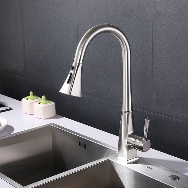 Pull Down Single Handle Kitchen Faucet by Wateday Wateday