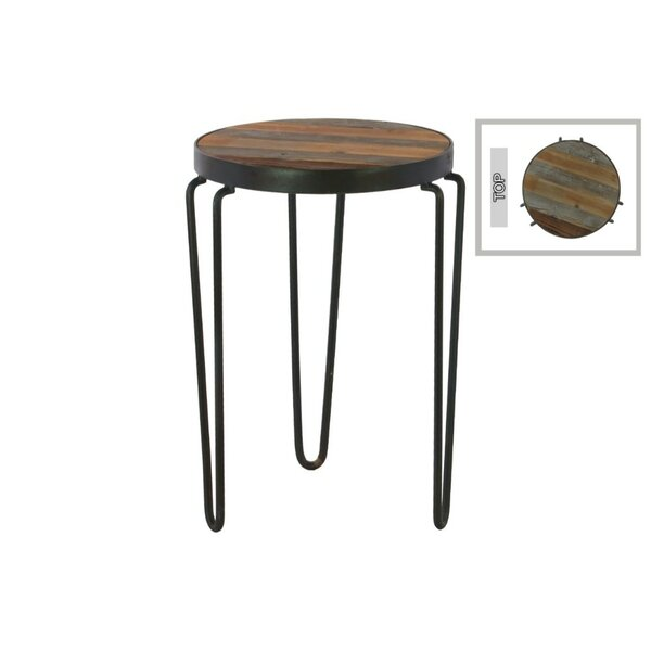 Dugan Metal Round Accent Stool by Williston Forge