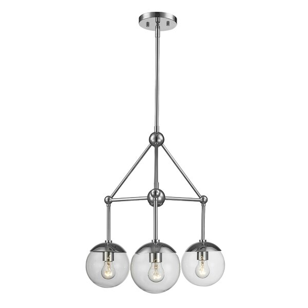 Romine 3 - Light Shaded Classic / Traditional Chandelier By Breakwater Bay