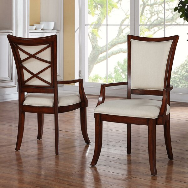 Leander Upholstered Dining Chair (Set of 2) by World Menagerie