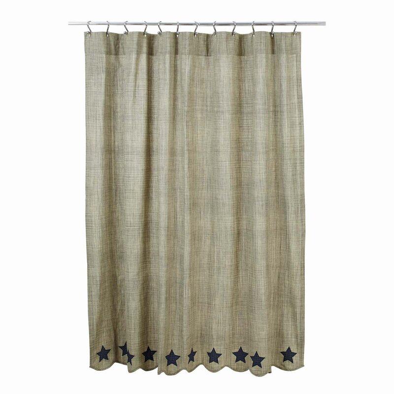Victoria 100% Cotton Shower Curtain