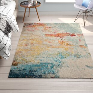 Shugart Sealife Teal/Orange Area Rug by Wrought Studio
