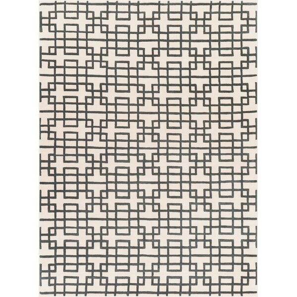Jessenia Beige/Black Area Rug by Everly Quinn