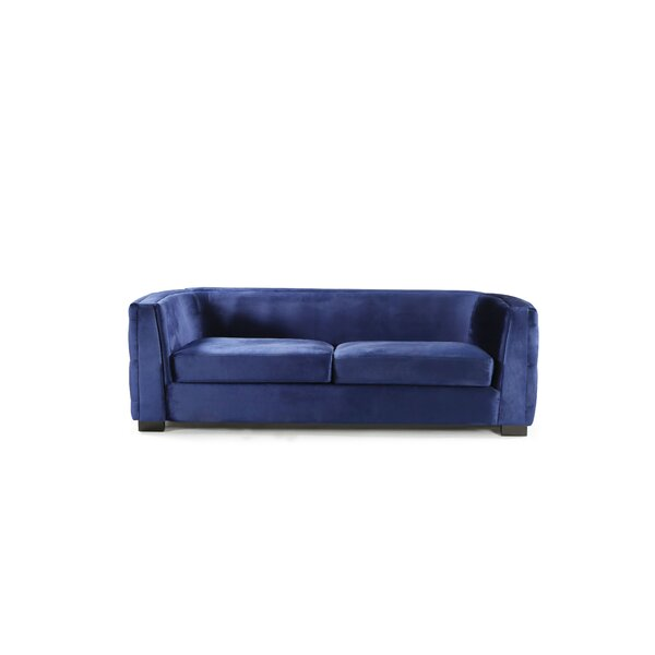 Orben Button-Tufted Curved Shelter Arm Chesterfield Sofa By Rosdorf Park