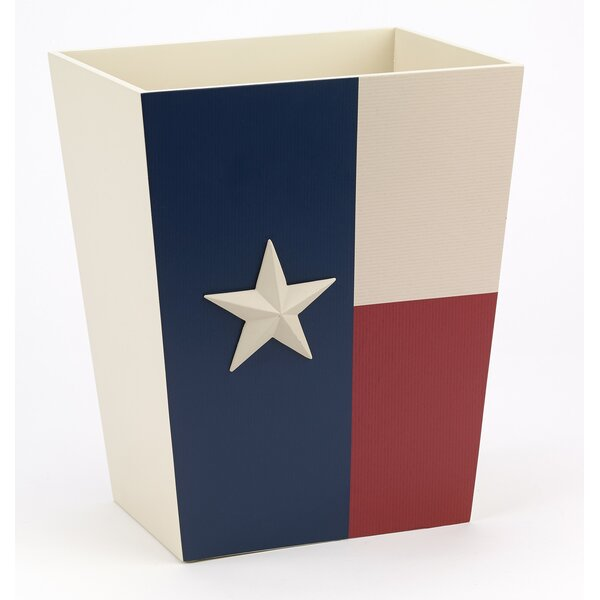 Texas Star Waste Basket by Avanti Linens