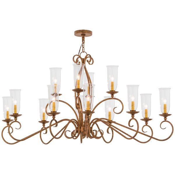 Swaffham 14 - Light Candle Style Classic Chandelier by Astoria Grand Astoria Grand