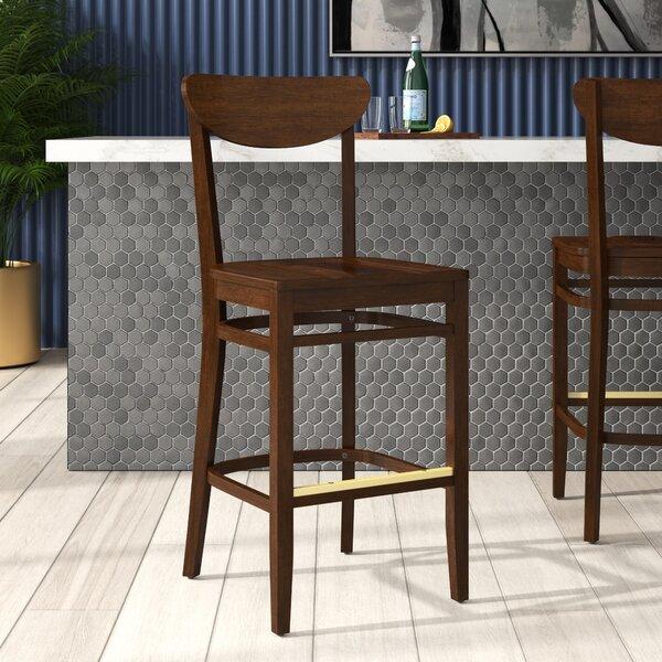 Beechwood Moon Shape Back Wood Seat Bar & Counter Stool by Regal Regal