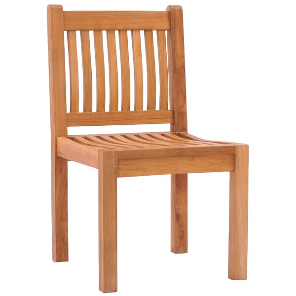 Quinlan Teak Patio Dining Side Chair by Darby Home Co Darby Home Co