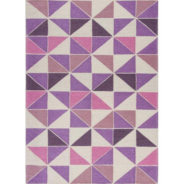 Audry Kaleidoscope Ivory/Pink Area Rug by Latitude Run