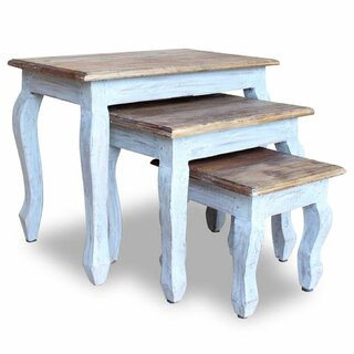 Alexandria Solid Reclaimed Wood 3 Piece Nesting Tables by One Allium Way SKU:DD724656 Description