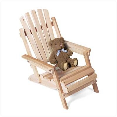 Solid Wood Adirondack Chair by Rustic Natural Cedar Furniture