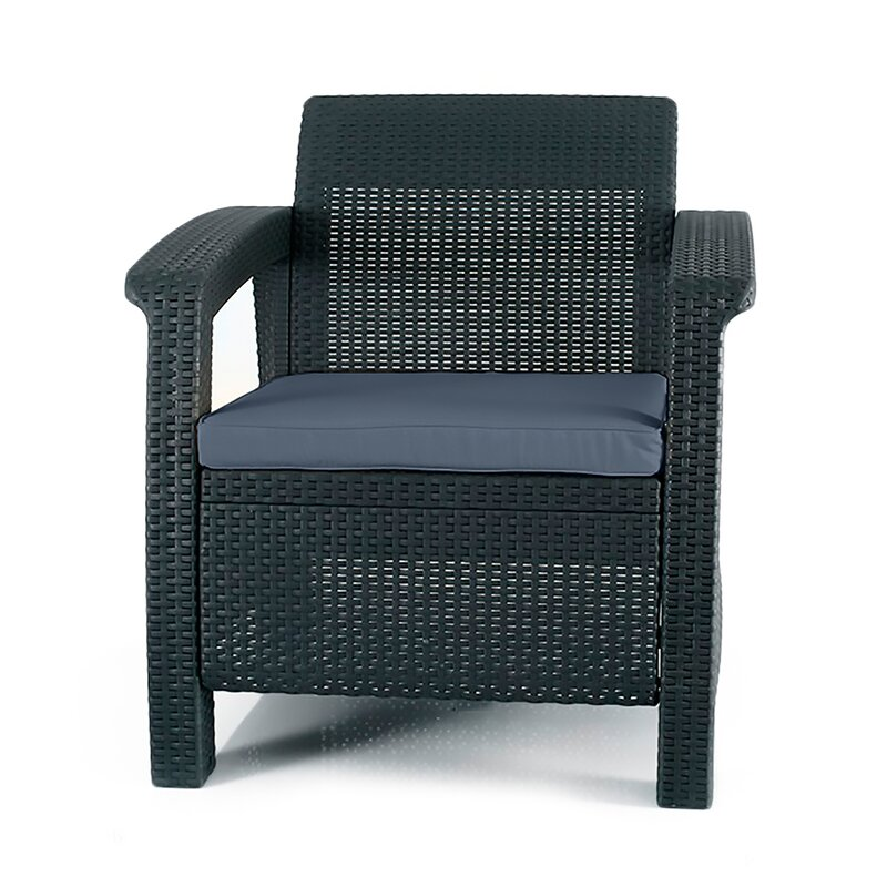 Exceptional Berard All Weather Outdoor Armchair With Cushion