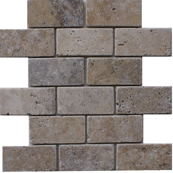 Philadelphia 2'' x 4'' Travertine Subway Tile in Grey by Epoch Architectural Surfaces